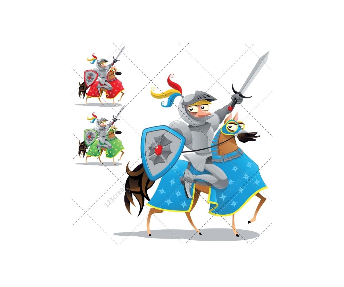 Medieval vector pack - cartoon illustration (knight ...