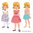 body vector, girl, hair, clothing, clothes, dress, head, avatar, elements, download, purchase