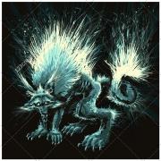 Werewolf vector, dark illustration, horror, scary, nightmare vector