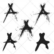 font vector pack, grunge font, sketched font, sketch fonts, handwritten vector, commercial vector font, buy vectors