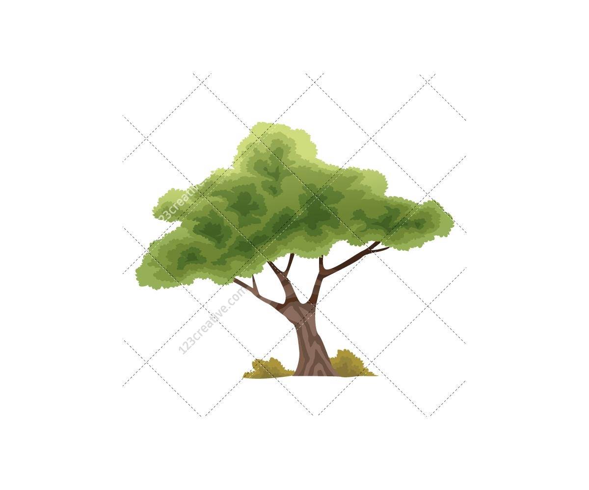 Vector Illustration Tree: Exotic Animal Vector