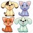 Cute animal vector, cat vectors, dog vectors