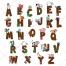 Font vector, cartoon font, comic, animal vector, type vector, letter, alphabet