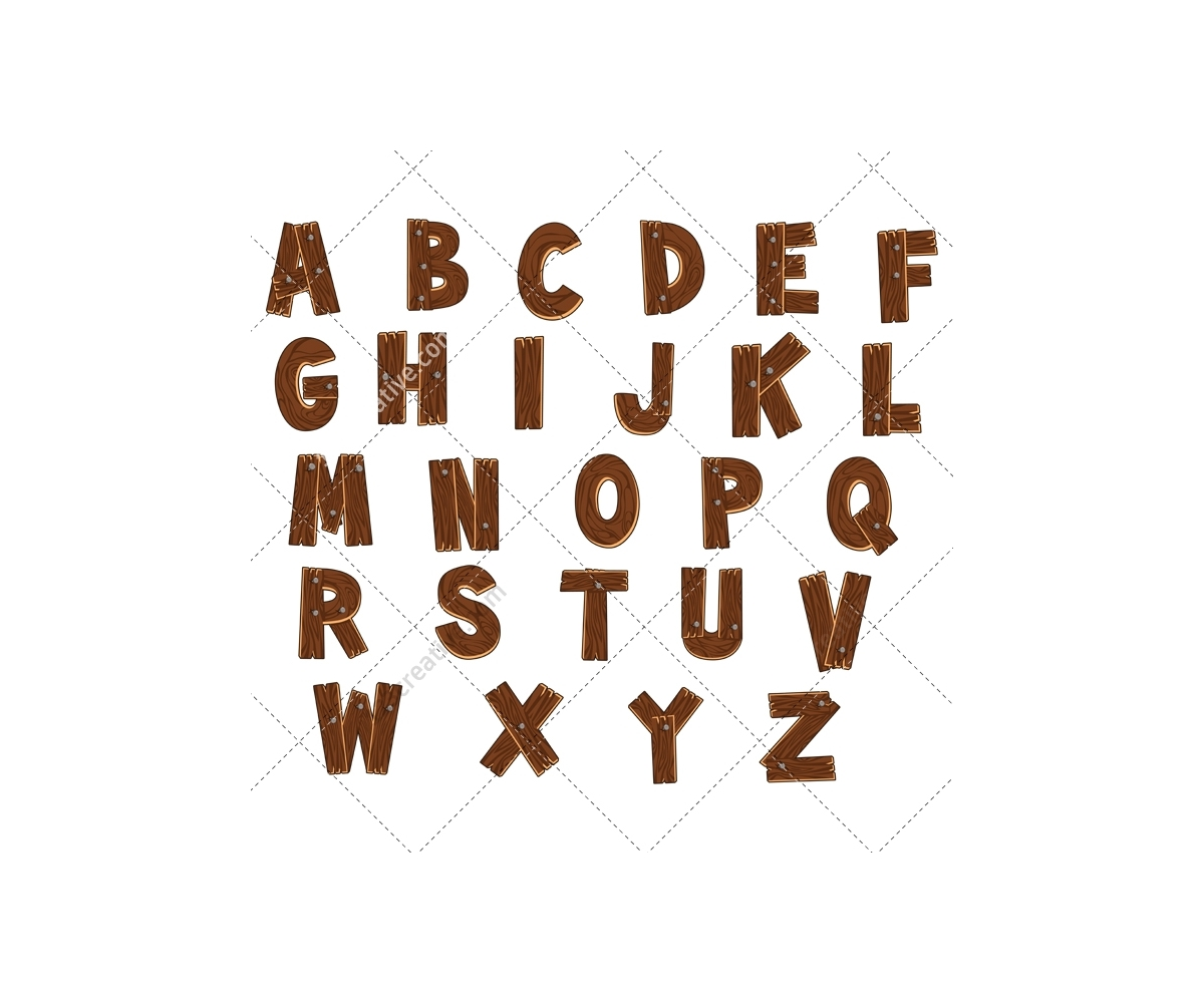 vector alphabet wooden alphabet vector pack royalty free font abc 5796