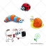Dog vector, snail vector, ladybird, caterpillar vector, earthworm, worm vector, animal