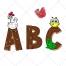 font vector pack, abc vector, alphabet, animals vector, animal, fence vector