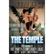 Rock concert poster template, high quality print template, poster design template, concert flyer template, professional poster
