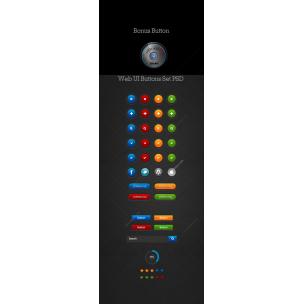 Web UI buttons set