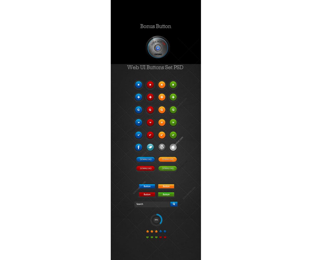 Design resources gt web elements gt buttons icons gt web ui buttons set