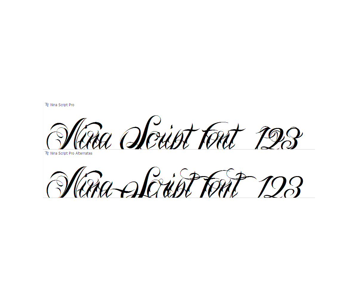 Calligraphy tatto font family script tatto fonts Calligraphy text