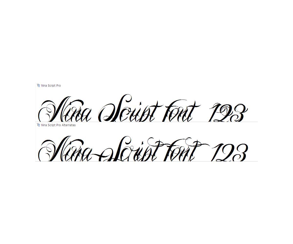 Calligraphy Tatto Font Family Script Tatto Fonts