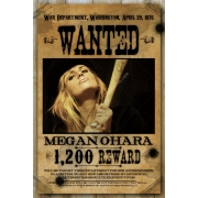 Woman wanted poster template, printable wanted poster, reward poster template, western wanted poster template, old wanted poster