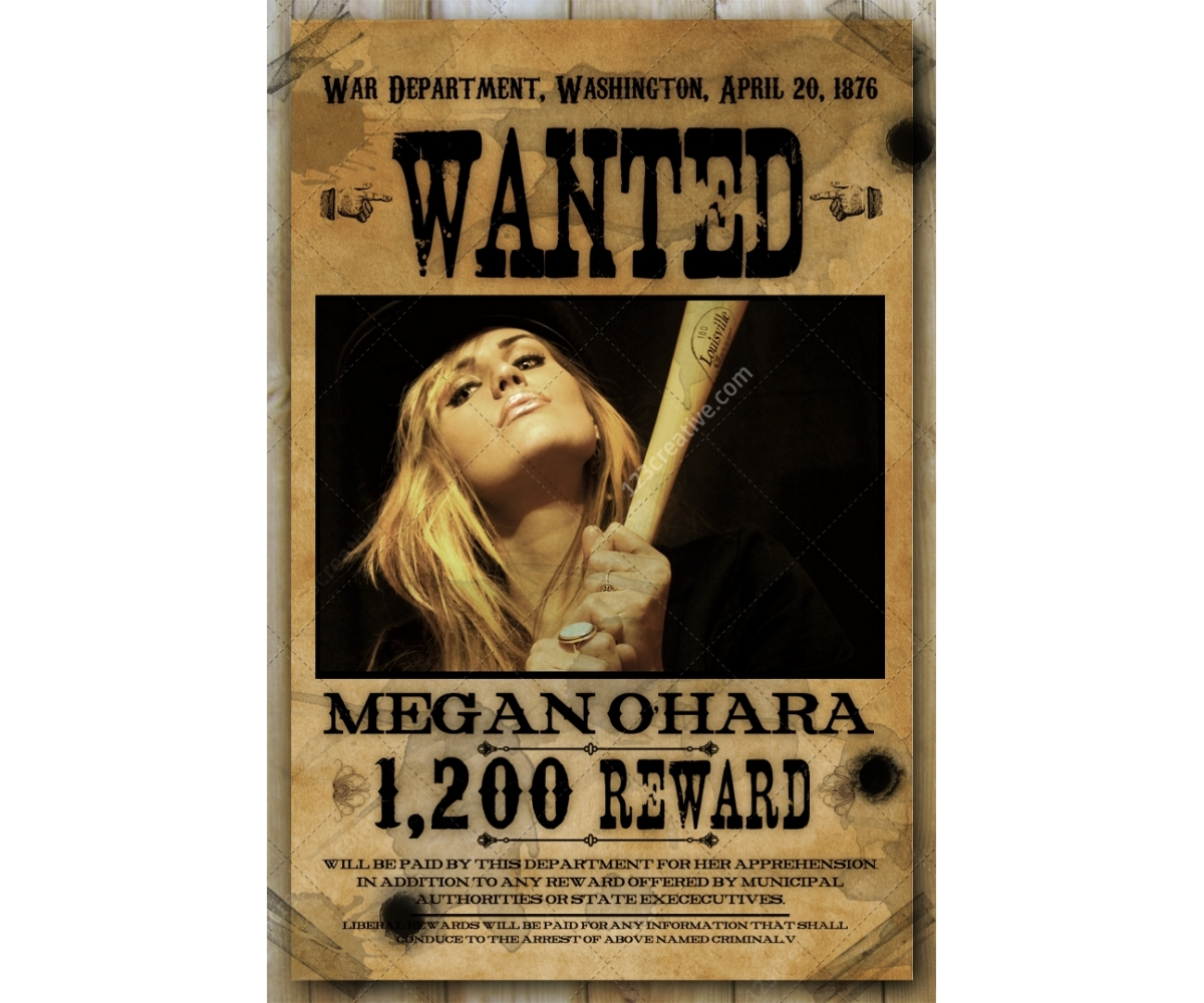 graphic relating to Printable Wanted Poster called Sought after poster template - obtain female wished-for poster, wild west