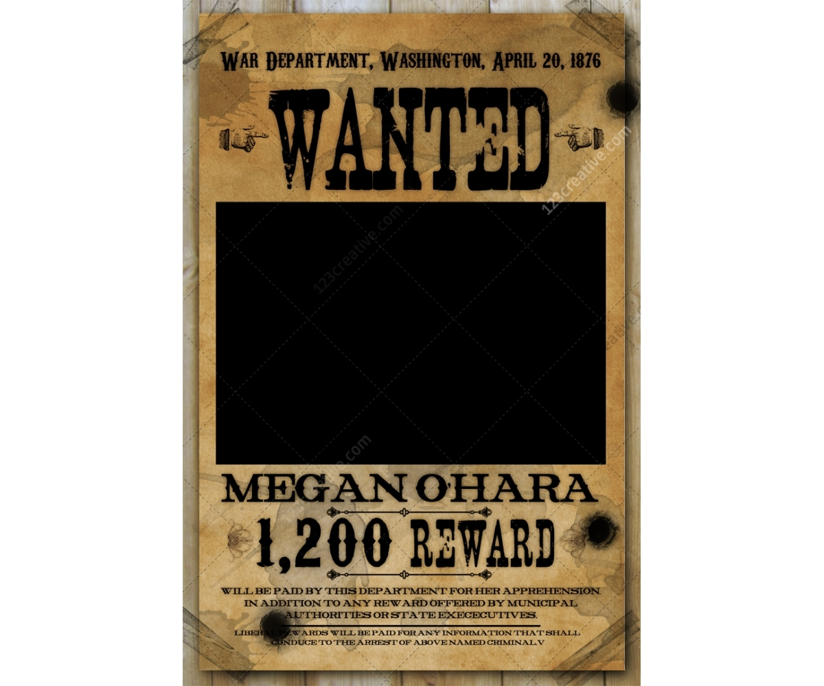 wanted poster template, western wanted poster template, wood poster ...