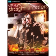 VIP party poster template free, concert poster template free, club flyer template psd free