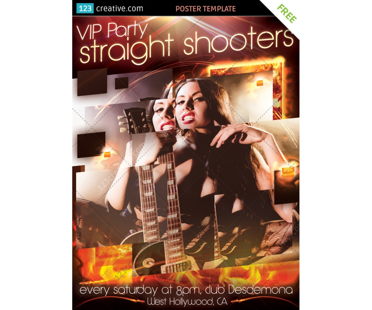 Party poster template free download - concert poster template ...
