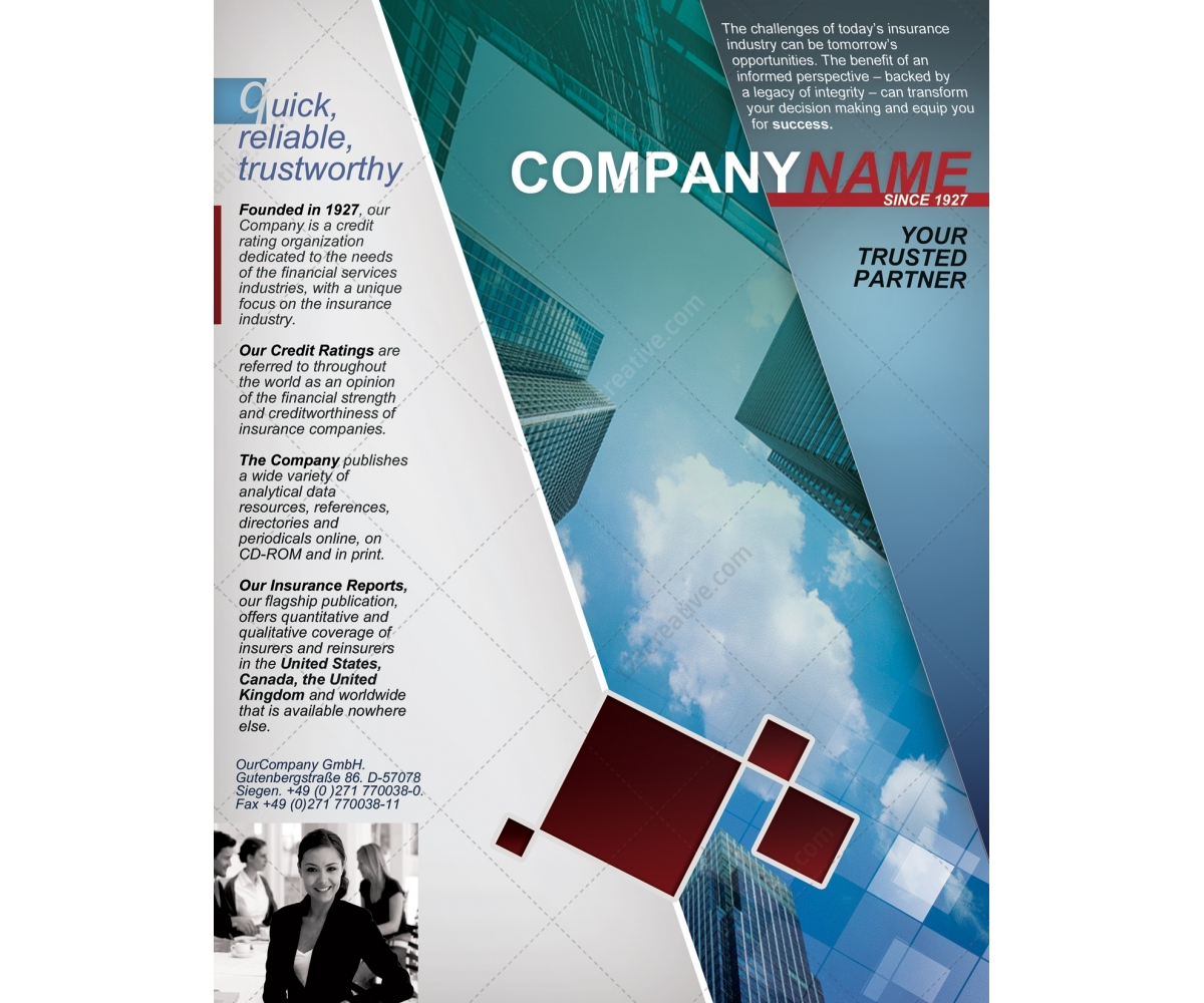 Corporate Flyer Template Business Psd Information Leaflet For