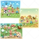 Mega Pack Farm illustrations with farmer and his wife, garden vector, summer landscape, cartoon illustrations, meadow vector