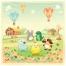cute animals vectors, children illustration, story illustration, farm vector, cute vector illustration, air balloon vectors, buy