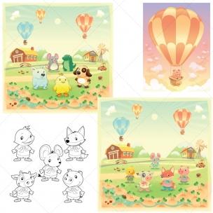 Mega Pack - Cute animals illustrations and vectors
