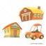 House vector, home vector, barn vector, house illustration, farm house vector, barn illustration, cartoon car vector
