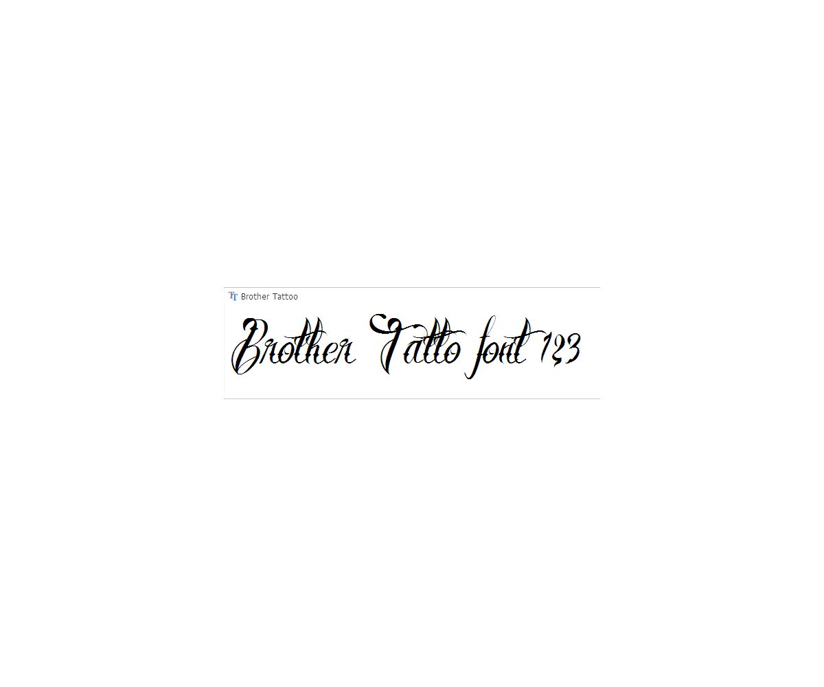 Calligraphy tatto font - decorative, swashes font for tattos