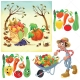 harvest vector, garden vector, vegetable vector, fruit vector, farm vector, farmer vector, garden illustration, buy vectors
