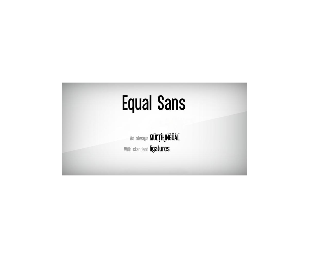 Sans Serif font - Equal Sans font (narrow, basic, rounded, modern ...