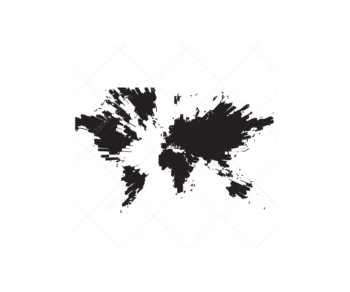 Image Result For Modern World Map Print