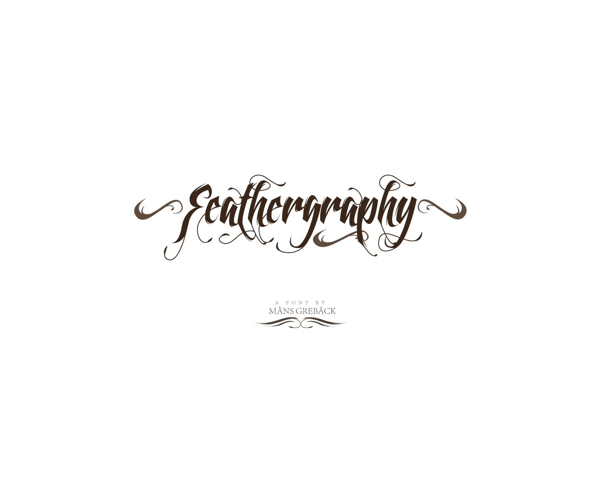 Swashes calligraphy font buy decorative tattoo for