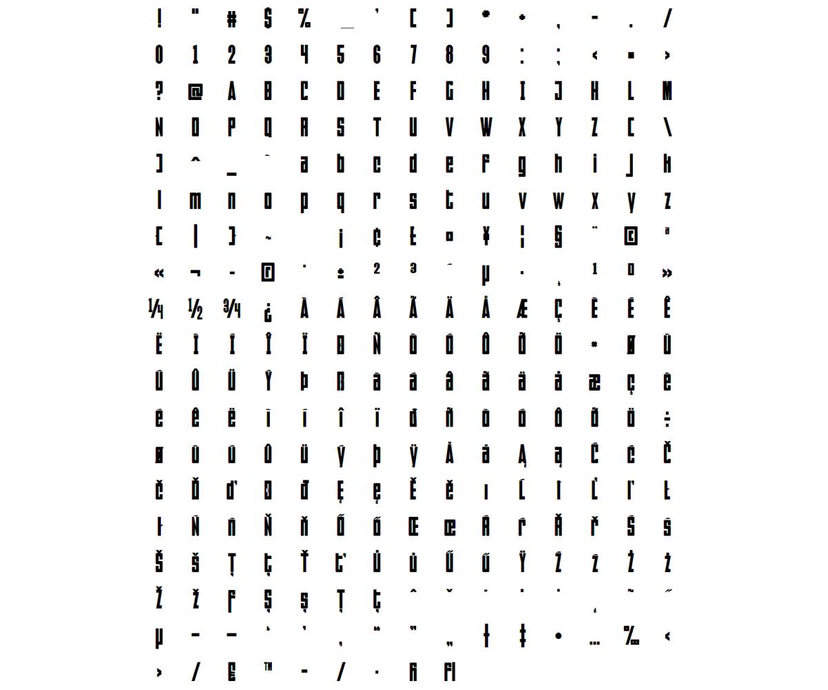 condensed square font  u2013 modern black font  regular font
