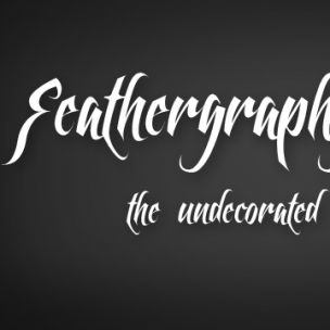 Feathergraphy Clean - font