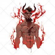 bloody devil, devil with blood, devil with horns, horned devil, dark devil, red  devil, horrible devil, ghastly devil, creepy de