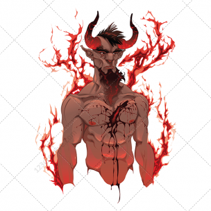 Devil in hell vector