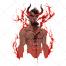 bloody devil, devil with blood, devil with horns, horned devil, dark devil, red  devil, horrible devil, ghastly devil, creepy de