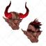 anarchist, deuce, satan, demon, bloody devil, devil with blood, devil with horns, horned devil, dark devil, red  devil, horrible