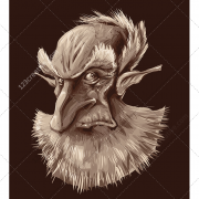old man vector, mysterious vector, man vector, color vector, dark vector background, character vector, man in the dark, vector c