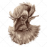 old man vector, mysterious vector, man vector, dwarf vector, mystery vector, character vector, portrait vector