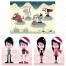 scary vector, christmas girl, cemetery, zombie boy, grave, boy vector, zombie girl, skeleton with a scythe, zombie girl,