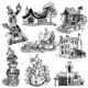 fantasy houses, fairy vector, fantasy house vector, fantasy vector pack buy, dwarf house, pumpkin house, scary villa vector