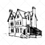 horror house vector, scary vector, scary house vector, horror vector, ghost house, witch house, buy vector pack