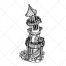 fantasy vector, fantasy house, fairy house vector, tower vector, fantasy tower house, faeries house, fairy tower, buy vector