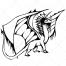 fantasy dragon vector, hand-drawn dragon vectors