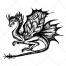 mysterious dragon, magical dragon