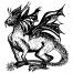 fantastic dragon vector, dragon vector image