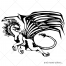 dragon vector silhouette, fantasy dragon vector