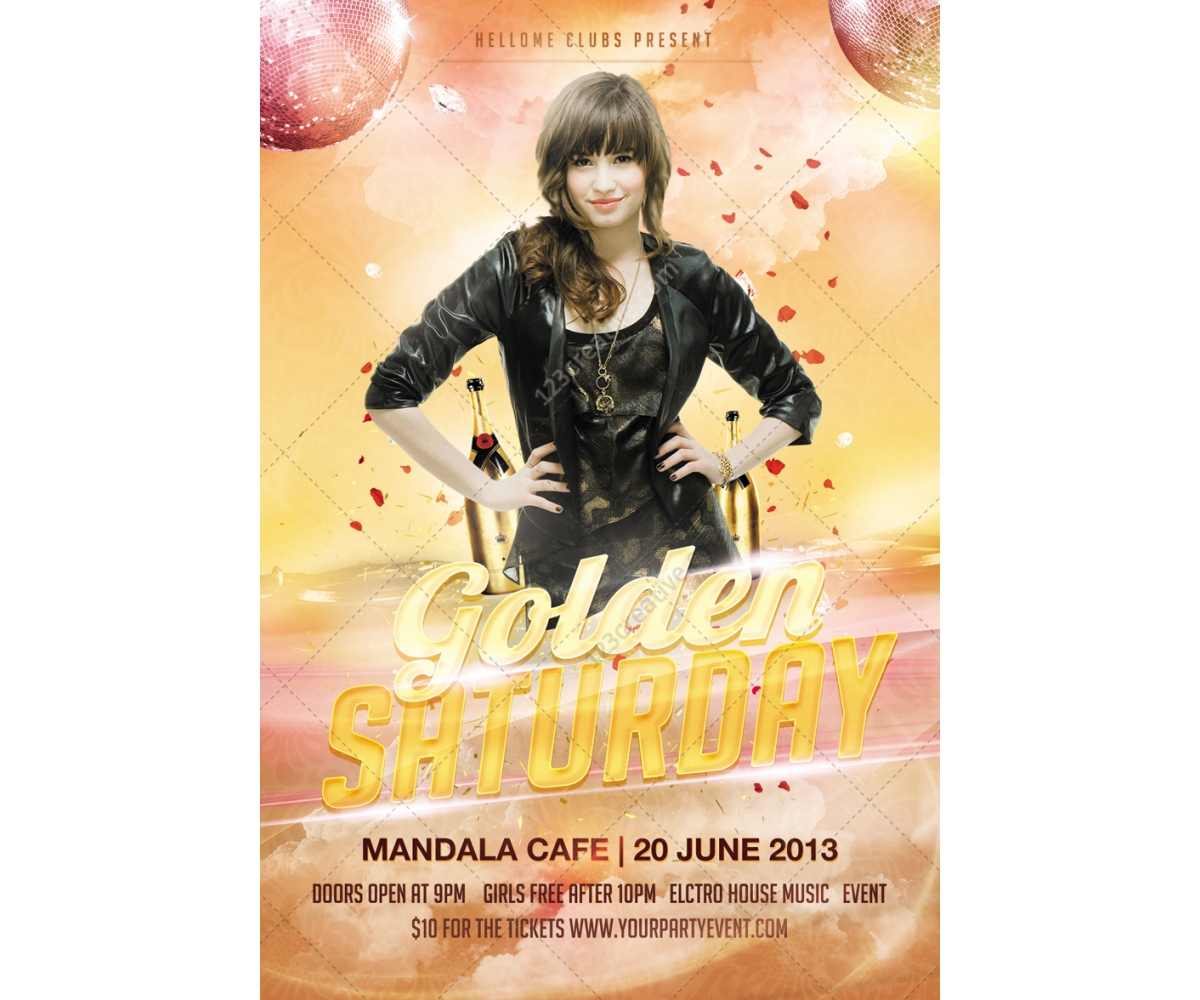flyer design templates buy professional poster template card golden saturday flyer template