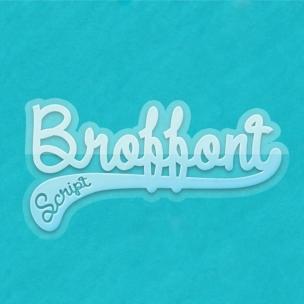 Broffont script - font family