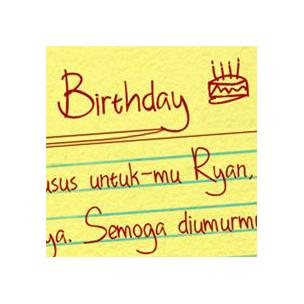 Happy Birthday Ryan - font family