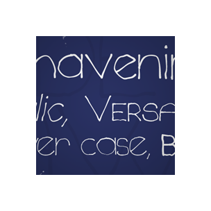 Chavenir - font family